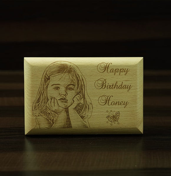 Personalised Engraving Wooden Plaque 4×6