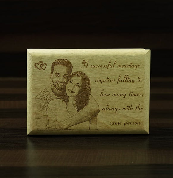 Personalised Engraving on Wooden Plaque 5×7