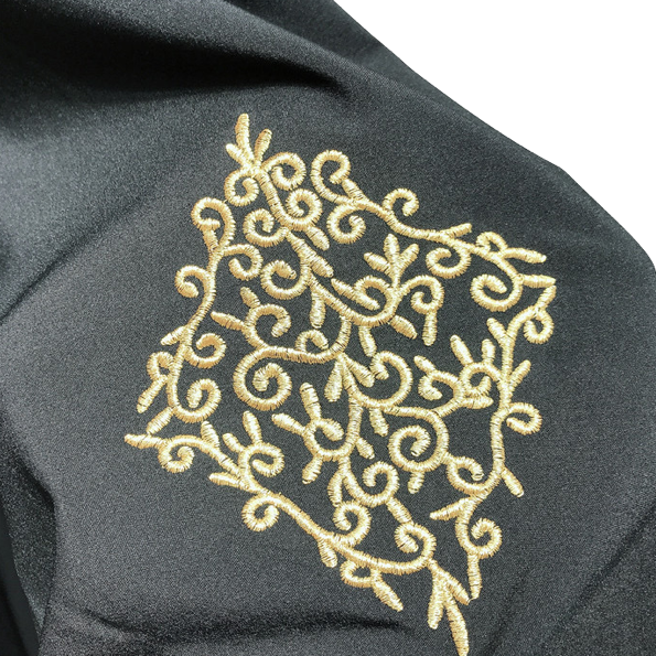Embroidered Open Abayah