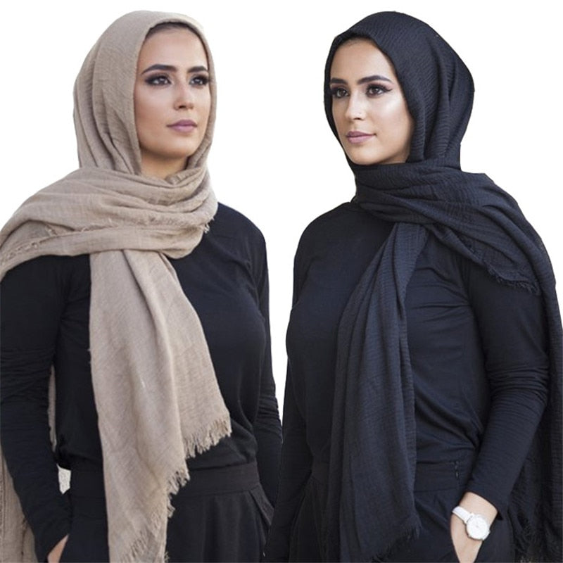 Trendy Cotton Crinkled Hijab