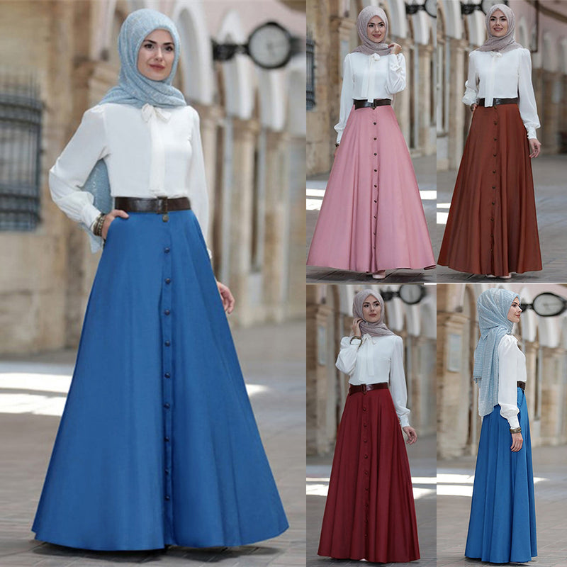 High Waist Swing Skirt