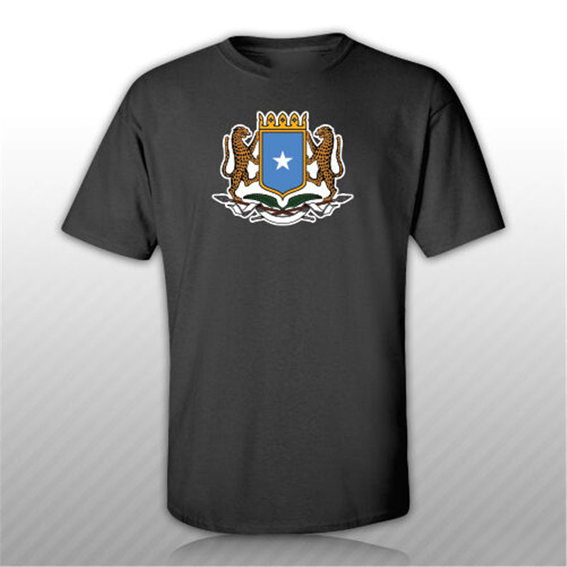 Somali Coat Of Arms T-Shirt Tee Shirt Free Sticker Somalia Flag Som So Funny Design Tee Shirt