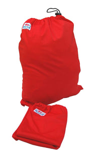Three Little Imps Single Colour Cloth Nappy Wet Bag (Red)