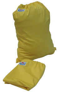 Three Little Imps Single Colour Cloth Nappy Wet Bag (Yellow)