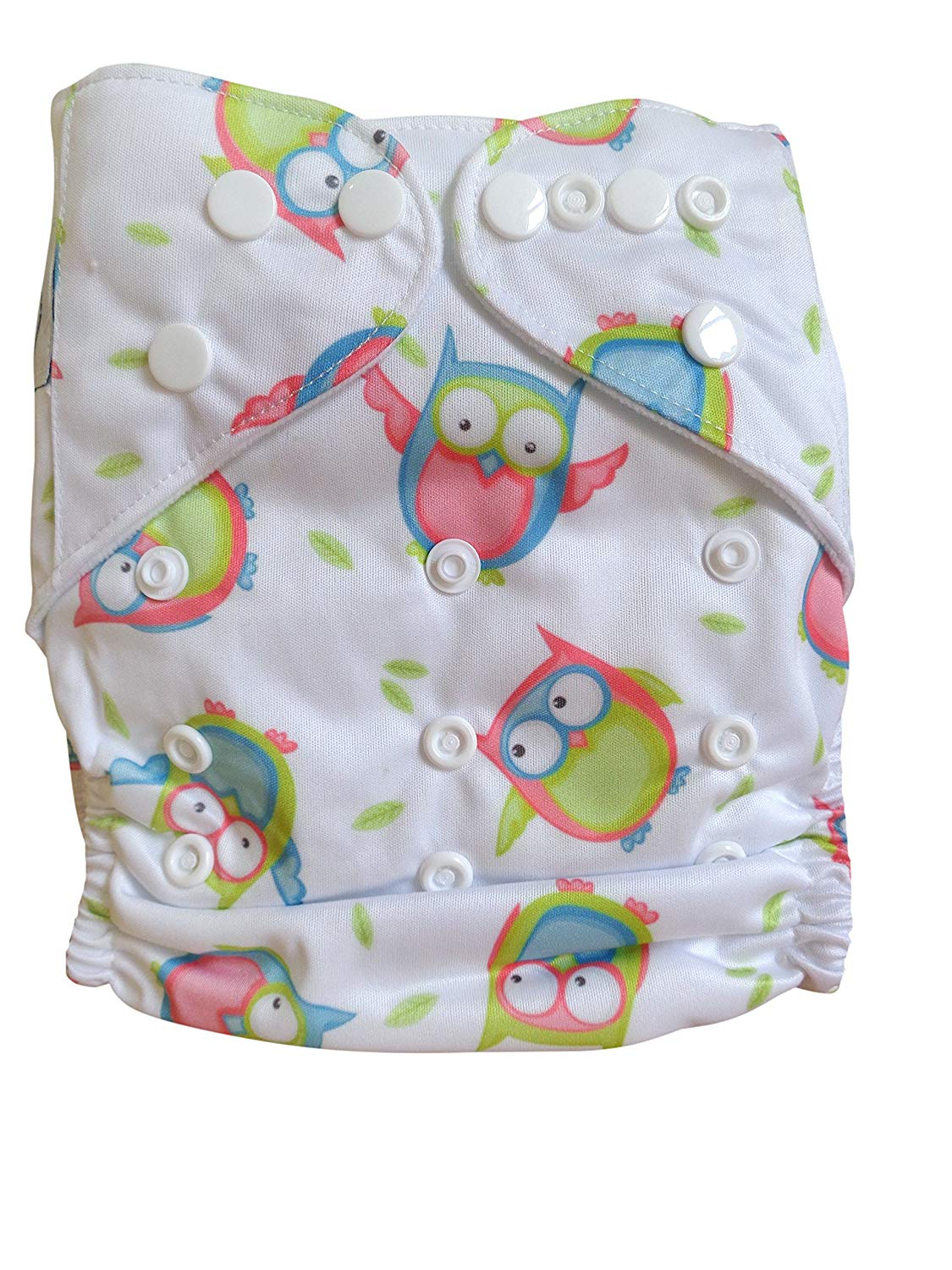 Three Little Imps Unisex Patterned Cloth Nappies inc 2 inserts each Set of 12