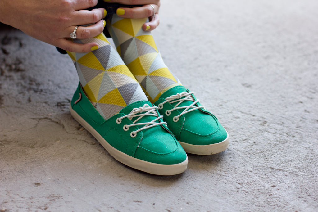 Not Your Granny's Smith socks with sneakers