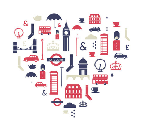 Heart logo with British icons