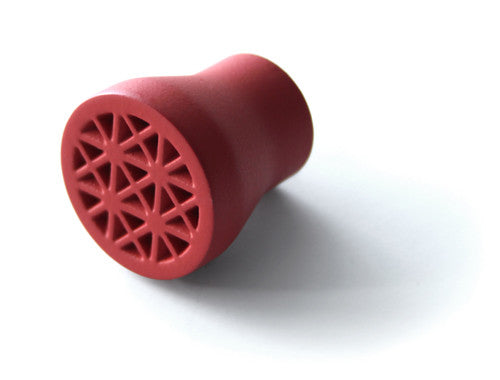 walking cane replacement tip in red performance rubber