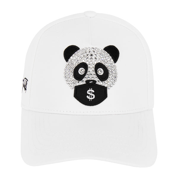 MONEY TALKS  CAP WHITE X SWAROVSKI
