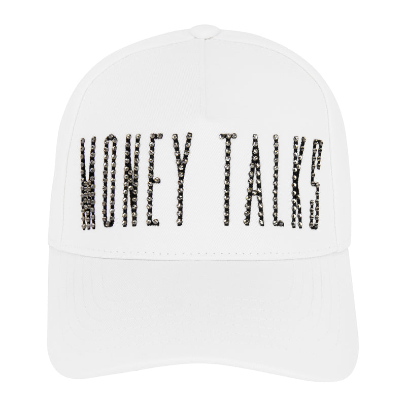 MONEY TALKS II CAP WHITE X SWAROVSKI