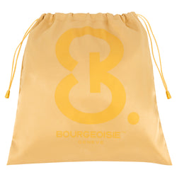 B. BOURGEOISIE GENEVE GOLD SATIN POUCH