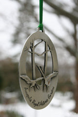"Pewter Ornament ""Dance of the Blue Heron"""