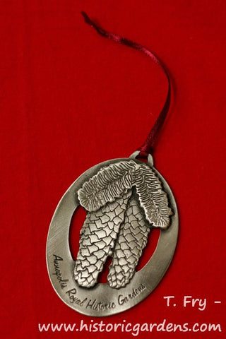 "Pewter Ornament ""Norway Spruce Cone"""