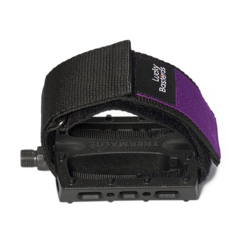 Pedal straps V2 | purple/black | Lucky Bastërds