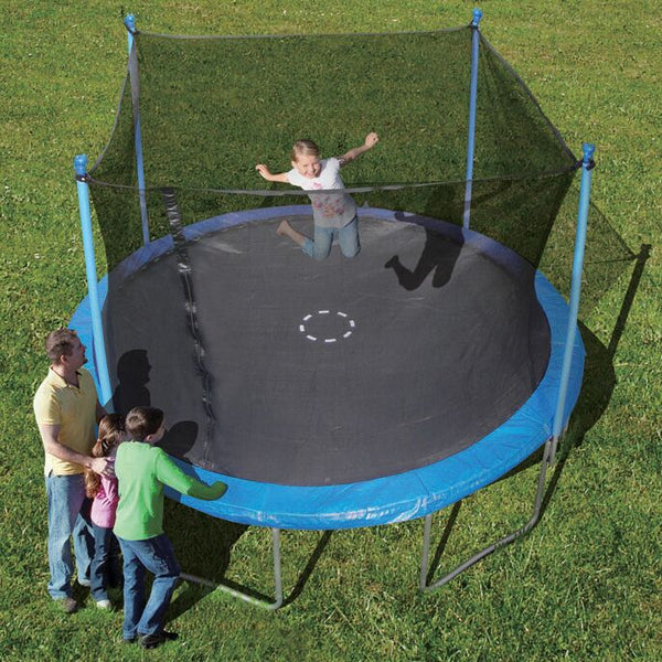 Trainor Sports 12' Round Trampoline w/ Enclosure Combo