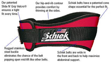 "Schiek 4"" Support Belts"