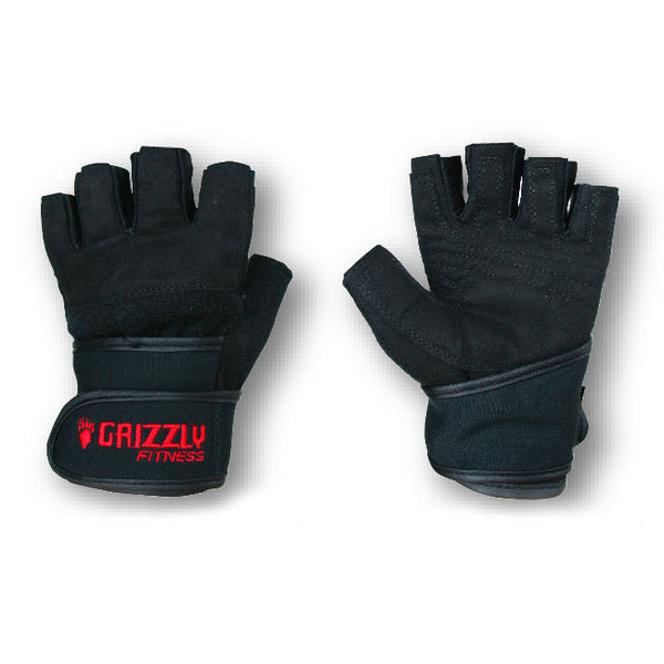 Grizzly Mens Power Training Wrist Wrap Gloves