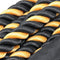 FIT505 Black/Yellow Nylon 50' Undulation Battle Rope