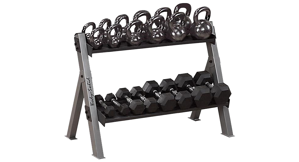 BODY-SOLID Dumbbell / Kettlebell Rack