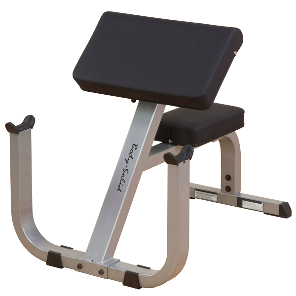 "body-solid 2"" X 3"" Preacher Curl Machine"
