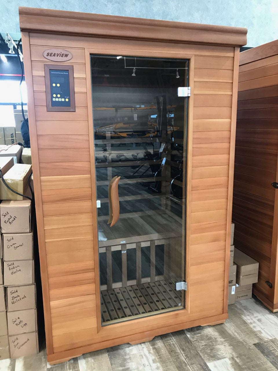 Seaview 2-Person Cedar Infrared Sauna - KN-002B