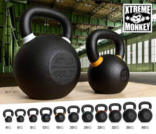XTREME MONKEY Cast Iron Kettlebells