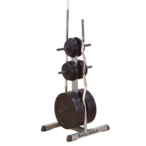 Body Solid Standard Plate Tree & Bar Holder