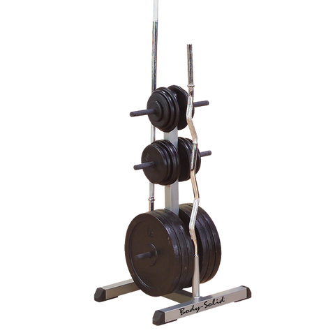 Body Solid Standard Plate Tree u0026 Bar Holder  sc 1 st  Fitness Warehouse Regina : weight plate stand - Pezcame.Com