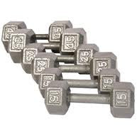 York Cast Iron Hex Dumbbells