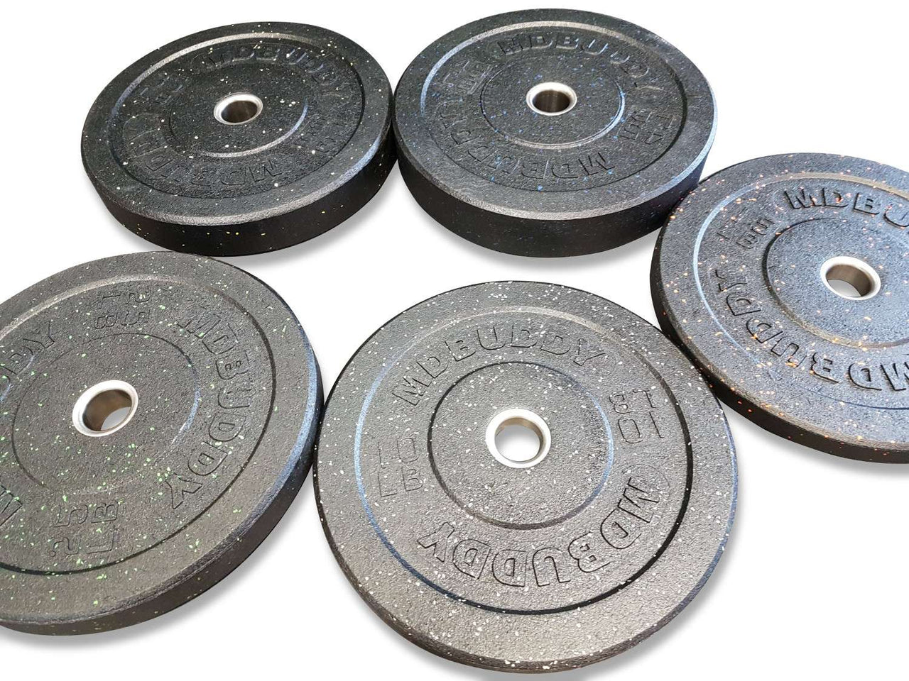 MD Buddy Olympic Crumb Rubber Bumper Plates