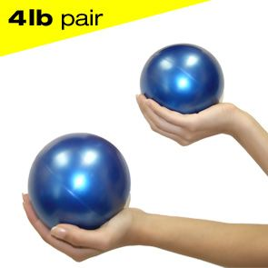 Jasmine Fitness 4lbs Pilates Weighted Balls - pair