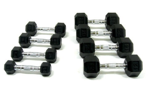 Ultimate Fitness Rubber Hex Dumbbells