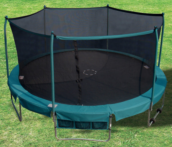 Trainor Sports 15' DELUXE Round Trampoline w/ Enclosure