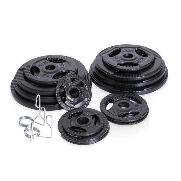 Xtreme Monkey 255lb Olympic Steel Grip Plate Set