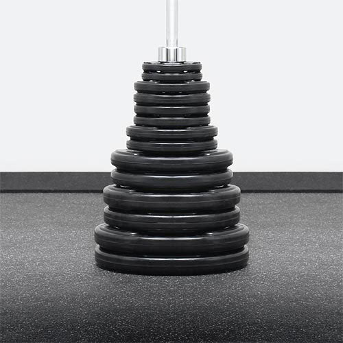 Element Fitness 300lbs Virgin Rubber Grip Olympic Weight Set