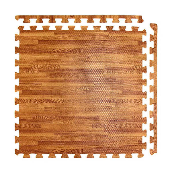 "2' x 2' x 1/2"" Interlocking Foam Mats With a simulated Wood finish"
