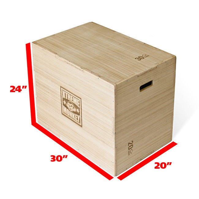 Xtreme Monkey 3 In 1 Wood Plyo Box Saskatoon Fitness Solutions
