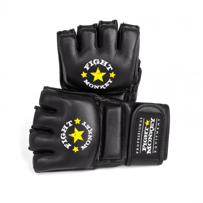 Fight Monkey Premium Leather MMA / Bag Gel Gloves