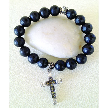 Onyx with Cross