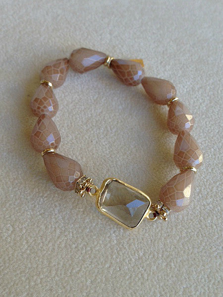 Beige Crystal with Coffee Quartz