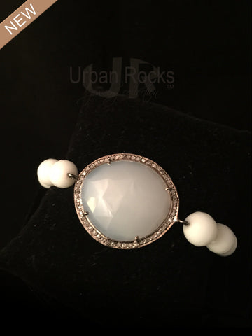 Black Diamond and Moonstone Bracelet