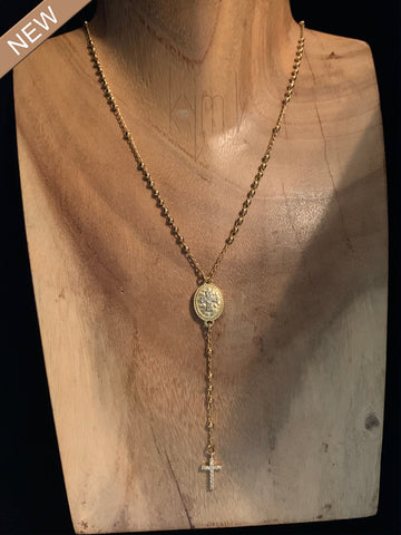 Cross Necklace Lariat Style