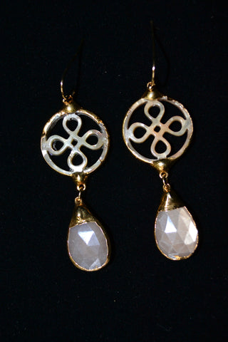 Mother Of Pearl And Baroque Earrings