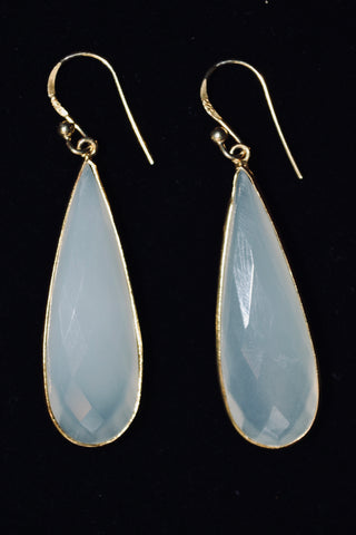 Milky Moonstone Earrings