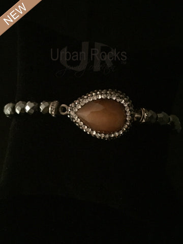 Hematite Amber Gemstone Turkish Bracelet