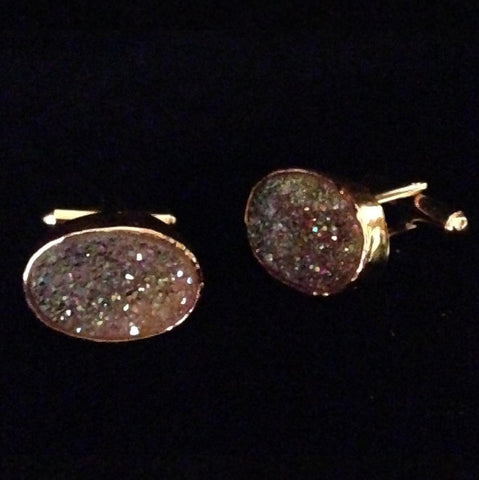 Men's Cufflinks Oval Fire