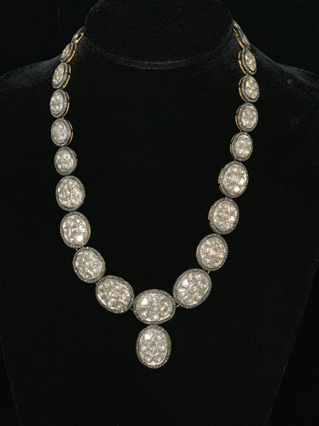 Sliced Diamond Statement Necklace