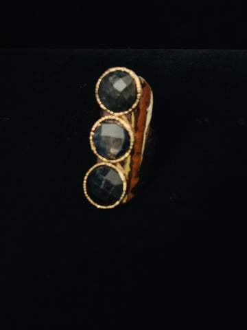 Beautiful 3 Stone Labadorite Ring for Micheline!