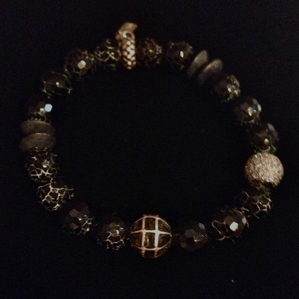 Men's Onyx with Black Diamond and Pave Crystal