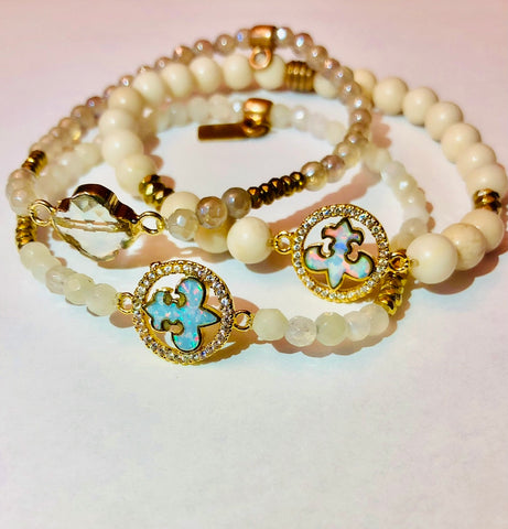 On Sale Stacking Bracelets Opalite